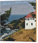 Cape Foulweather Point Wood Print