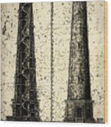 Cape Hatteras Art Wood Print