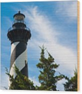 Cape Hatteras Lantern Room Wood Print