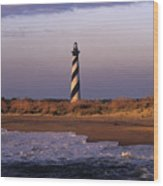 Cape Hatteras Lighthouse At Sunrise - Fs000606 Wood Print