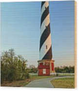 Cape Hatteras Lighthouse In Morning  Wood Print