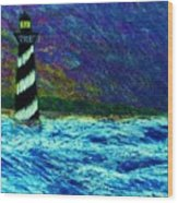 Cape Hetteras Light House Wood Print by Jeanette Stewart