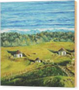 Cape Huts Wood Print
