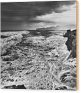 Cape Kiwanda Storm Wood Print