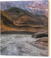 Cape Kiwanda Sunset Wood Print