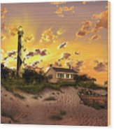 Cape Lookout Lighthouse 2 Wood Print