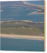Cape Lookout Lighthouse Distance Wood Print