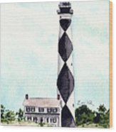 Cape Lookout Lighthouse Outer Banks North Carolina Wood Print