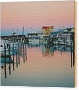 Cape May After Glow Wood Print