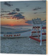 Cape May At Sunrise - Cape May New Jersey Wood Print