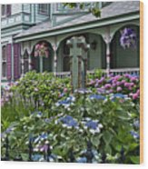 Cape May House And Garden. Wood Print