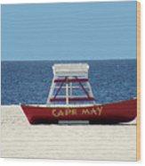 Cape May Lifeguard Station Boat Wood Print