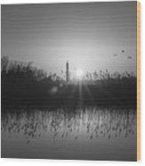 Cape May Light Bw Wood Print
