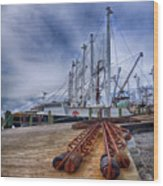 Cape May Scallop Fishing Boat Wood Print