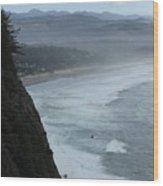 Cape Meares Coastline Wood Print