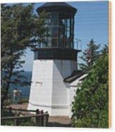 Cape Meares Lighthouse Li 100 Wood Print
