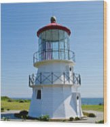 Cape Mendocino Lighthouse Wood Print