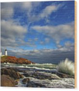 Cape Neddick Lighthouse Wood Print by Rick Berk
