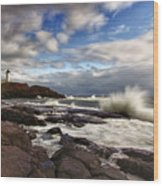 Cape Neddick Maine Wood Print
