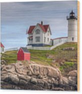 Cape Neddick Nubble Lighthouse I Wood Print