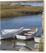Cape Rowboats Wood Print