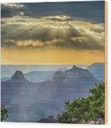 Cape Royal Crepuscular Rays Wood Print