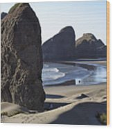 Cape Sebastian - Hunters Cove Area- Oregon Coast Wood Print