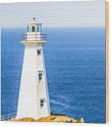 Cape Spear Lighthouse Wood Print