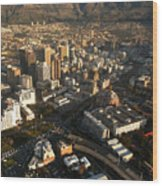 Cape Town From The Air Wood Print by Andy Smy