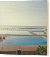 Cape Town Pool Wood Print