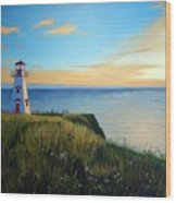 Cape Tryon Lighthouse Wood Print