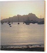 Cape Verde Sunset Wood Print
