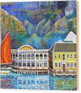 Cape Waterfront Wood Print by Michael Durst