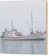 Capelco Passing Thru Foggy Johnson Bay Wood Print