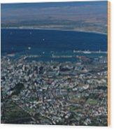 Capetown South Africa Aerial Wood Print