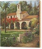 Capistrano Courtyard Wood Print