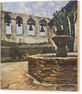 Capistrano Fountain Wood Print