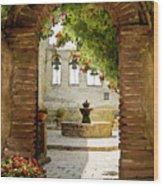 Capistrano Gate Wood Print