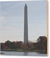 Capital Autumns - The Washington Monument In The Fall Wood Print