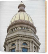 Capital Building Dome Cheyenne Wyoming Vertical 01 Wood Print