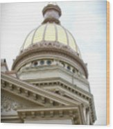 Capital Building Dome Cheyenne Wyoming Vertical 02 Wood Print