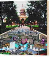 Capital Collage Austin Music Wood Print by James Granberry