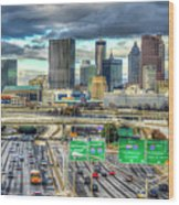 Capital Of The South Atlanta Skyline Cityscape Art Wood Print