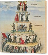 Capitalist Pyramid, 1911 Wood Print by Granger