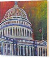 Capitol Closing Wood Print