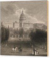 Capitol Of The Unites States, Washington D C Wood Print