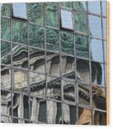 Capitol Reflection Wood Print