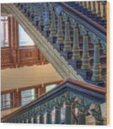 Capitol Stairwell Wood Print