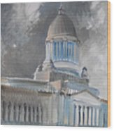 Capitol Turmoil Wood Print