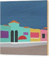 Capitola Venetian- Art By Linda Woods Wood Print